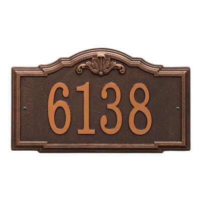 Whitehall Personalized Gatewood Standard Wall Address Plaque - 1 Line