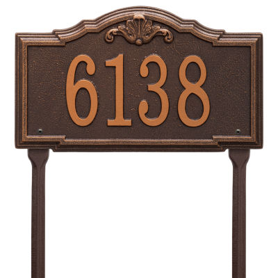 Whitehall Personalized Gatewood Standard Lawn Address Plaque - 1 Line