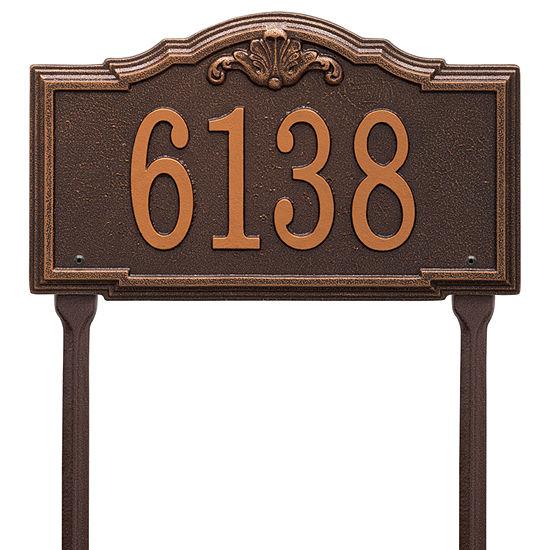 Whitehall Personalized Gatewood Standard Lawn Address Plaque - 1 Line