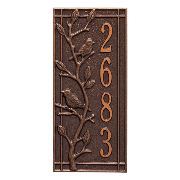 Whitehall Personalized Woodridge Vertical Standard Wall Address Plaque - 1 Line