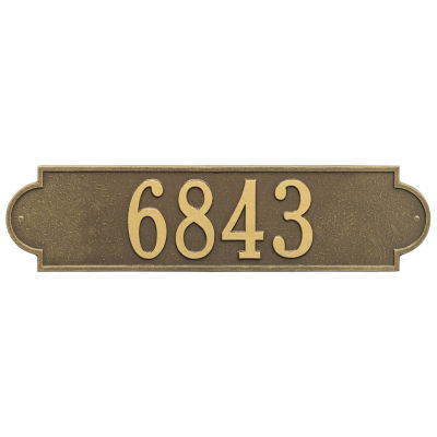 Whitehall Personalized Richmond  Estate Wall Address Plaque - 1 Line