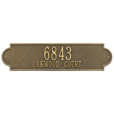 Whitehall Personalized Richmond Estate Wall Address Plaque - 2 Line