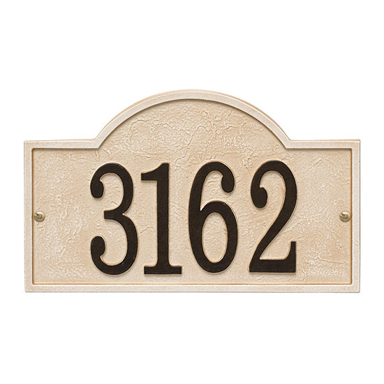 Whitehall Personalized Stonework Arch Address Plaque - 1 Line