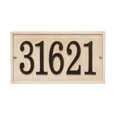 Whitehall Personalized Stonework Rectangular Address Plaque  - 1 Line