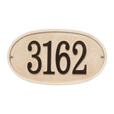 Whitehall Personalized Stonework Oval Address Plaque -  1 Line