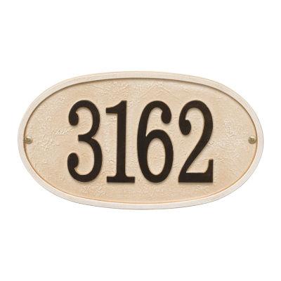 Whitehall Personalized Stonework Oval Address Plaque -  1 Line