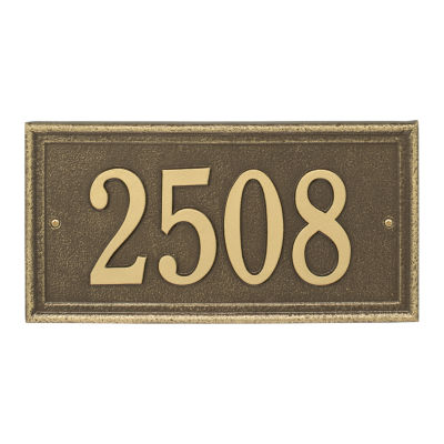 Whitehall Personalized Masons Rectangular StandardAddress Plaque - 1 Line