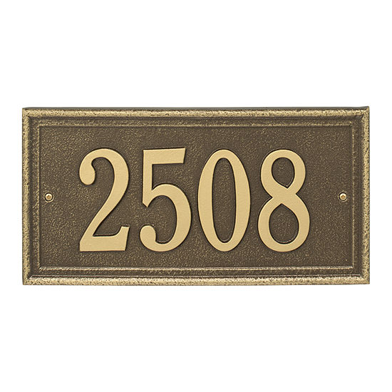 Whitehall Personalized Masons Rectangular Standard Address Plaque - 1 Line