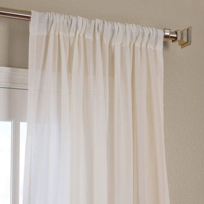 Exclusive Fabrics & Furnishing Faux Linen Sheer Curtain Panel