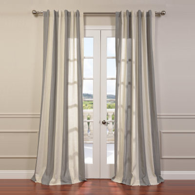 Exclusive Fabrics & Furnishing Del Mar Linen BlendStripe Curtain Panel