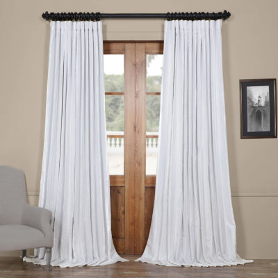 Exclusive Fabrics & Furnishing Blackout Extra WideFaux Silk Taffeta Curtain Panel