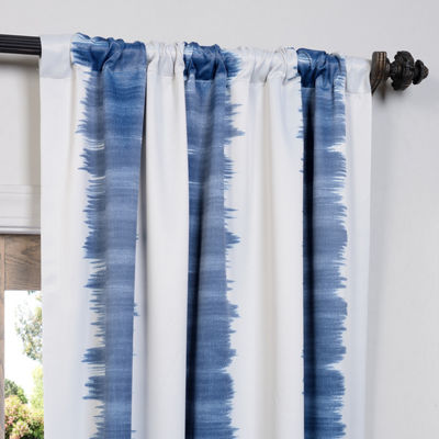 Exclusive Fabrics & Furnishing Flambe Stripe Blackout Curtain Panel