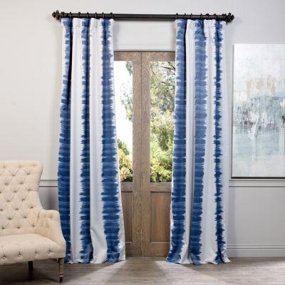 Exclusive Fabrics & Furnishing Flambe Stripe Blackout Curtain Panel