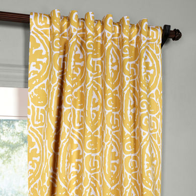 Exclusive Fabrics & Furnishing Abstract Blackout Curtain Panel