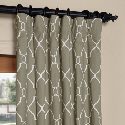 Exclusive Fabrics & Furnishing Aiden Printed Cotton Curtain Panel
