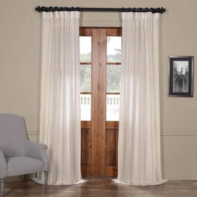 Exclusive Fabrics & Furnishing Aruba Striped Linen Sheer Curtain Panel