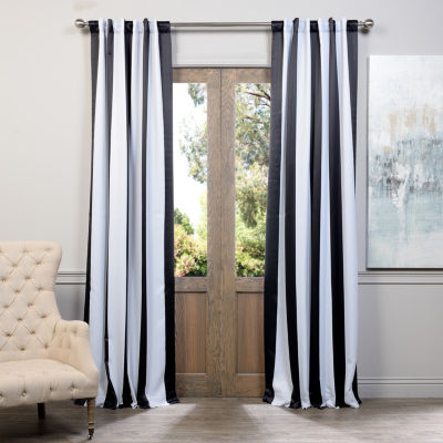 Exclusive Fabrics & Furnishing Awning Stripe Blackout Curtain Panel