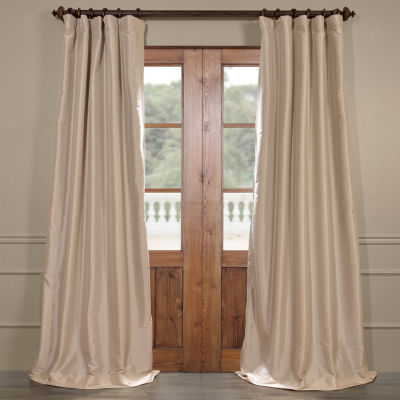Exclusive Fabrics & Furnishing Blackout Faux Silk Taffeta Curtain Panel