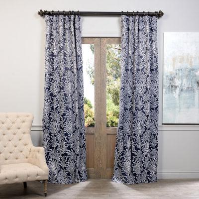 Exclusive Fabrics & Furnishing Flora Blackout Curtain Panel