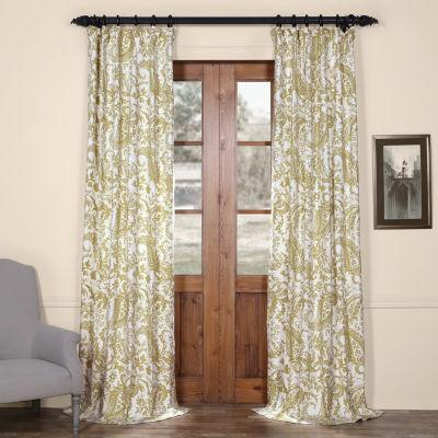 Exclusive Fabrics & Furnishing Edina Printed Cotton Curtain Panel