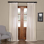 Exclusive Fabrics & Furnishing Aruba Striped Linen Sheer Curtain Panel