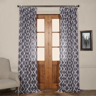 Exclusive Fabrics & Furnishing Birmingham Faux Linen Sheer Curtain Panel