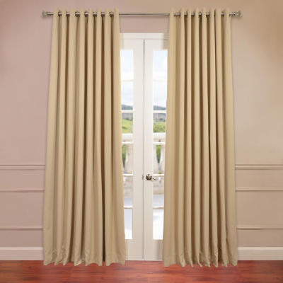 Exclusive Fabrics & Furnishing Grommet-Top Extra Wide Blackout Curtain Panel