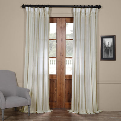 Exclusive Fabrics & Furnishing Antigua Striped Linen Sheer Curtain Panel