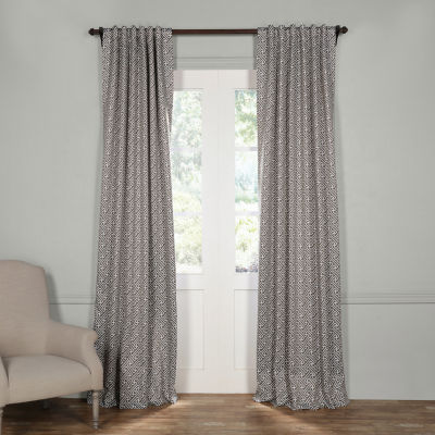 Exclusive Fabrics & Furnishing Cobblestone Blackout Curtain Panel