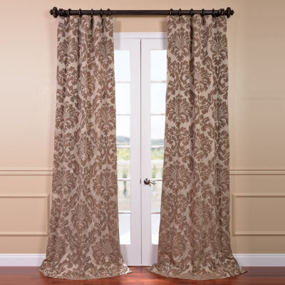 Exclusive Fabrics & Furnishing Astoria Faux Silk Jacquard Curtain Panel