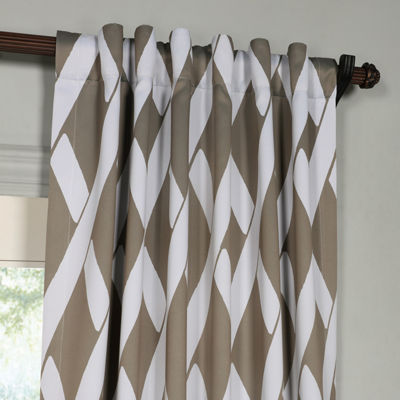 Exclusive Fabrics & Furnishing Crosshatch BlackoutCurtain Panel