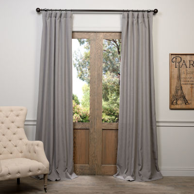 Exclusive Fabrics & Furnishing Heavy Faux Linen Curtain Panel