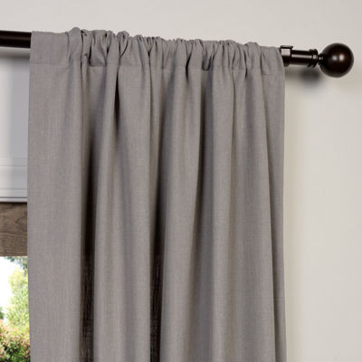 Exclusive Fabrics & Furnishing Heavy Faux Linen Curtain Panel