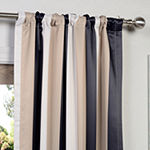 Exclusive Fabrics & Furnishing Printed Blackout Rod-Pocket/Back-Tab Single Curtain Panel