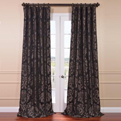Exclusive Fabrics & Furnishing Astoria Faux Silk Jacquard Curtain Panel