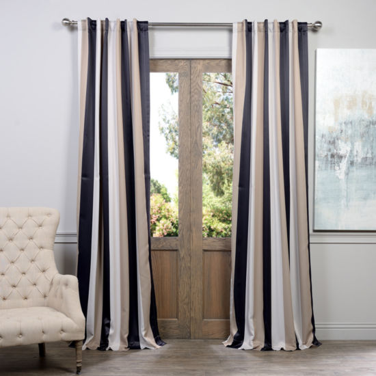 Exclusive Fabrics & Furnishing Georgetown BlackoutCurtain Panel