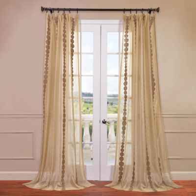 Exclusive Fabrics & Furnishing Cleopatra Embroidered Sheer Curtain Panel