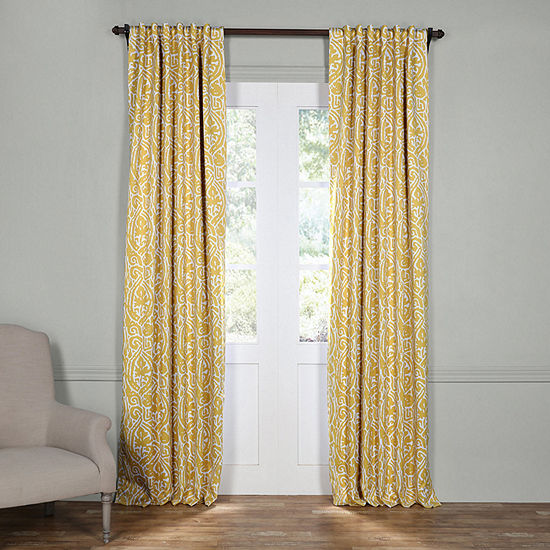 Exclusive Fabrics Furnishing Abstract Blackout Curtain Panel