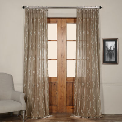 Exclusive Fabrics & Furnishing Grecian Printed Sheer Curtain Panel