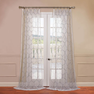 Exclusive Fabrics & Furnishing Florentina Embroidered Sheer Curtain Panel