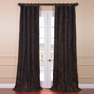 Exclusive Fabrics & Furnishing Magdelena Faux SilkJacquard Curtain Panel