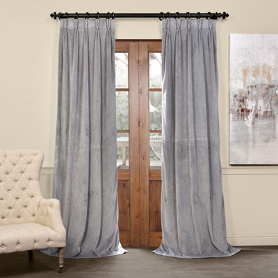 Exclusive Fabrics & Furnishing Signature Pleated Blackout Velvet Curtain Panel