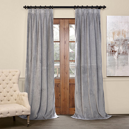 Exclusive Fabrics Furnishing Signature Pleated Blackout Velvet Curtain Panel