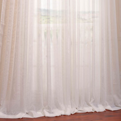 Exclusive Fabrics & Furnishing Signature Double Layered & Extra Wide Sheer Curtain Panel