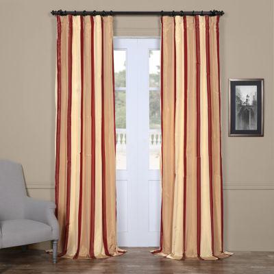 Exclusive Fabrics & Furnishing Manchester Faux Silk Taffeta Stripe Curtain Panel