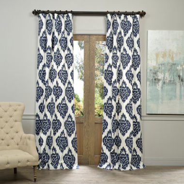 Exclusive Fabrics & Furnishing Ikat Printed CottonCurtain Panel