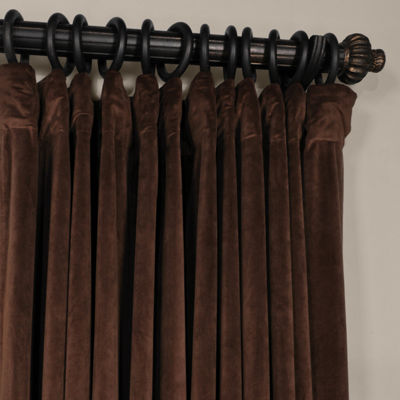 Exclusive Fabrics & Furnishing Signature Extra Wide Velvet Blackout Rod-Pocket Curtain Panel