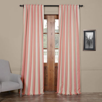 Exclusive Fabrics & Furnishing Striped Blackout Curtain Panel