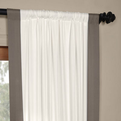 Exclusive Fabrics & Furnishing Vertical ColorblockPanama Curtain Panel