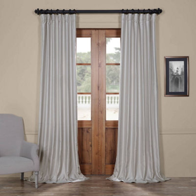 Exclusive Fabrics & Furnishing Yarn Dyed Faux Dupioni Silk Curtain Panel